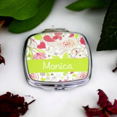 Personalised Compact Mirror Gift - Paisley