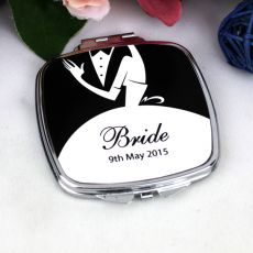 Personalised Bride Compact Mirror Gift
