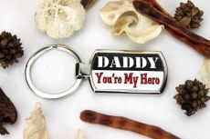Daddy Your My Hero Keyring Gift