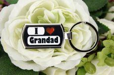 I Love My Grandad keyring