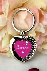 Personalised Heart Keyring Gift