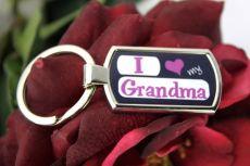 I Love My Grandma Keyring