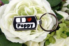 I Love My Poppy keyring