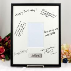 18th Birthday  Signature Frame Black / White 4x6 Photo