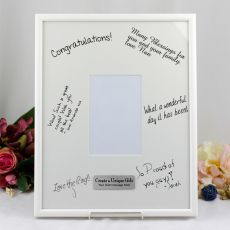 40th Birthday  Signature Frame Black / White 4x6 Photo