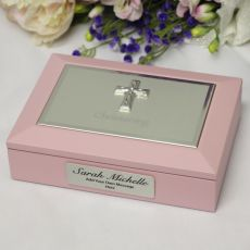 Baby Girl Christening  Keepsake Memory Box