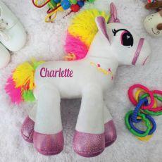 Personalised Plush Pink Unicorn