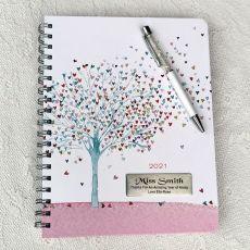 2021 Teacher Weekly Planner Calendar Tree