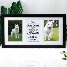 Pet Memorial Gallery Photo Frame 4x6 Typography Print Black