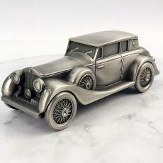 Vintage Car Pewter Money Box