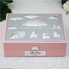 Personalised Baby  Keepsake Box Gift - Pink