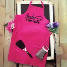 Grandma  Personalised Apron Pink