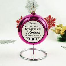 Memorial Christmas Bauble - Pink