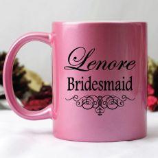 Bridesmaid Pink Personalised Coffee Mug