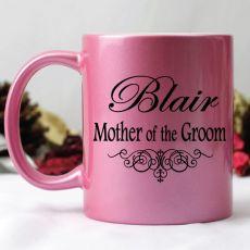 Mother of the Groom Pink Personalised Coffee Mug