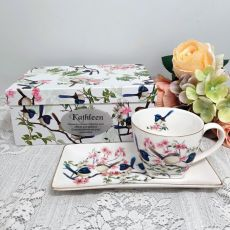 Breakfast Set Cup & Sauce in Graduation Box - Blue Wren