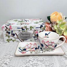 Breakfast Set Cup & Sauce in Mum Box - Blue Wren