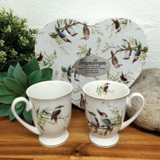 2pcs Kookaburra Mug Set in Grandma Heart Box