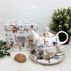 Australian Birds Tea for one in Personalised 80th Gift Box