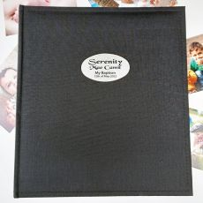 Personalised Baptism Photo Album Black 500
