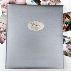 70th Birthday Personalised Photo Album 500 Silver