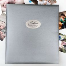 Baptism Personalised Photo Album 500 Silver