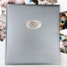 Memorial Personalised Photo Album 500 Silver