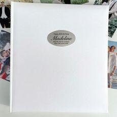 80th Birthday Personalised Photo Album 500 White