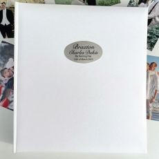 Naming Day Personalised Photo Album 500 White