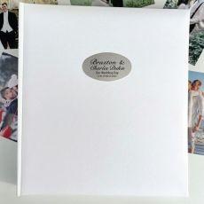 Personalised Wedding Photo Album 500 White