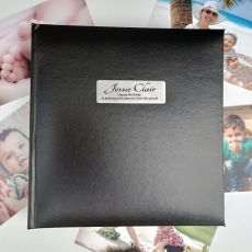 Personalised 60th Birthday Photo Album -Black 200
