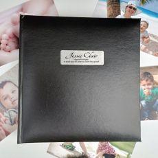 Personalised 80th Birthday Photo Album -Black 200