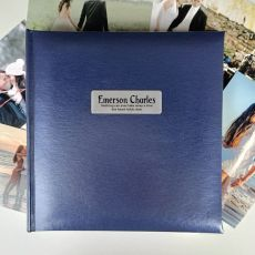 Personalised Memorial Blue Photo Album - 200
