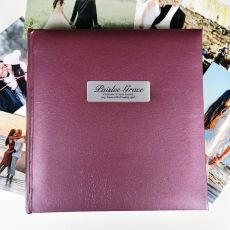 Personalised Memorial Photo Album Rose 200