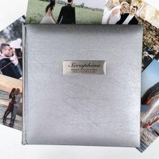 Personalised 30th Birthday Photo Album Silver 200