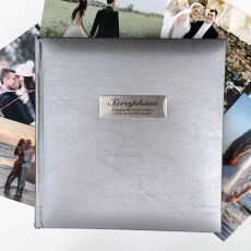 Personalised 80th Birthday Photo Album Silver 200