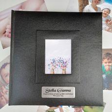 Personalised 40th Birthday Photo Album 200 Black