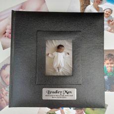 Personalised Baby Photo Album 200 Black