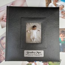 Personalised Christened Photo Album 200 Black