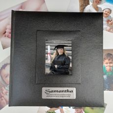Personalised Graduation Photo Album 200 Black