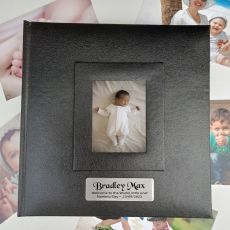 Personalised Naming Photo Album 200 Black