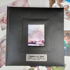 Personalised Wedding Photo Album 200 Black