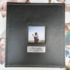 18th Birthday Personalised Black Album 5x7 Photo