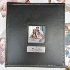 40th Birthday Personalised Black Album 5x7 Photo