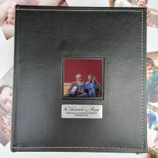 60th Birthday Personalised Black Album 5x7 Photo