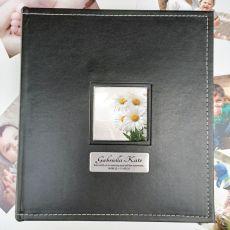 Memorial Personalised Black Album 5x7 Photo