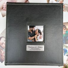 Engagement Personalised Album Black x7 Photo