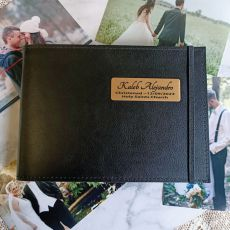 Personalised Christening Brag Album - Black 5x7