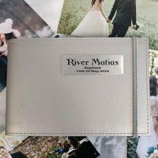 Personalised Baptism Brag Album - Silver 5x7