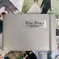 Personalised Pop Brag Album - Silver 5x7